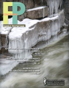 The front cover of the Winter 2020 Family Physician magazine
