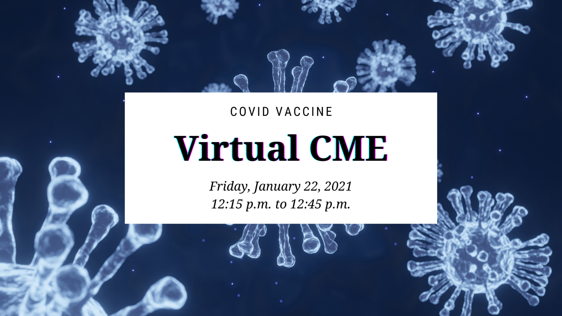 A header image with basic information about the CME event.